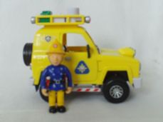 Adorable Fireman Sam Friction 'Mountain Rescue Car' Plus Penny Figure